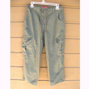 GLORIA VANDERBILT Cargo pants, 8, Cropped, Olive